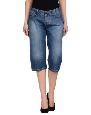 Джинсовые брюки-капри ALEX VIDAL. Цвет: синий