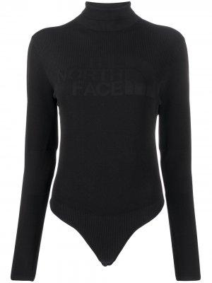 Боди с логотипом The North Face. Цвет: черный