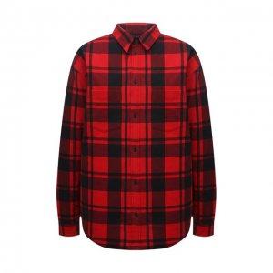 Хлопковая куртка Balenciaga. Цвет: красный