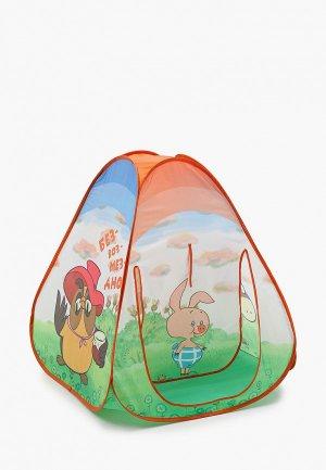 Палатка ЯиГрушка игровая, самораскладывающаяся, Винни Пух, 80х80х90 см. Цвет: разноцветный