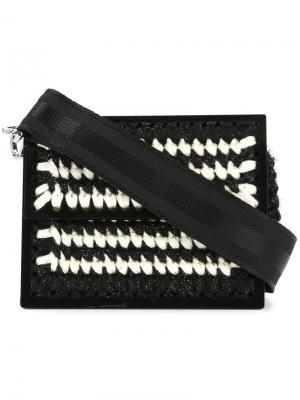 Клатч с вышивкой макраме Le Secretaire Copacabana 0711. Цвет: черный