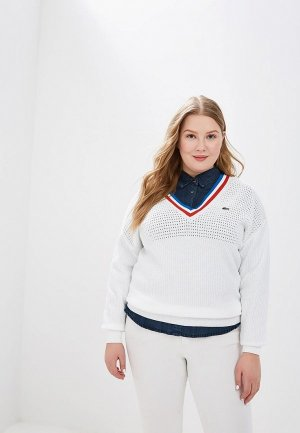 Пуловер Lacoste. Цвет: белый