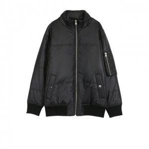 Куртка на молнии с декоративной отделкой Designers, Remix girls. Цвет: чёрный