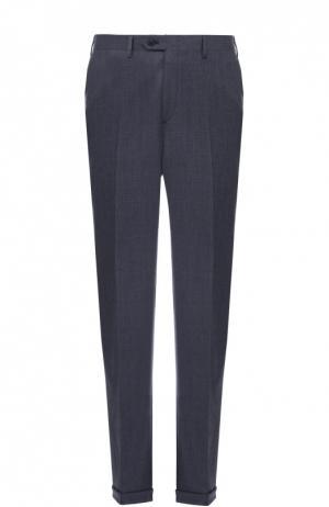 Классические шерстяные брюки Brioni. Цвет: синий
