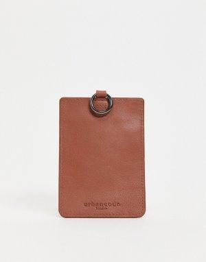 Кожаный кошелек для пластиковых карт -Коричневый цвет Urbancode