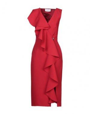 Платье длиной 3/4 ALEXANDR ROGOV. Цвет: красный