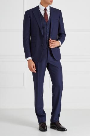 Шерстяной костюм-тройка Stefano Ricci. Цвет: синий