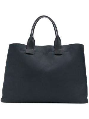 Объемная сумка-тоут Troubadour. Цвет: синий