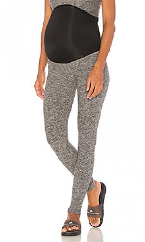 Леггинсы для беременных fold down Beyond Yoga. Цвет: серый