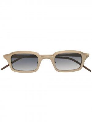 Солнцезащитные очки RG0073 в прямоугольной оправе Rigards. Цвет: серый