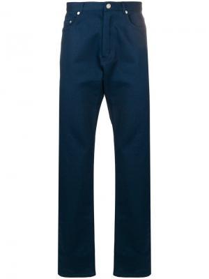 Прямые брюки A.P.C.. Цвет: синий