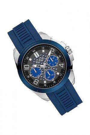Наручные часы Guess. Цвет: синий