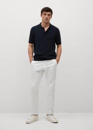 Укороченные брюки-чинос tapered - Prato Mango. Цвет: белый