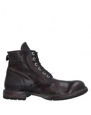 Полусапоги и высокие ботинки MOMA. Цвет: темно-коричневый