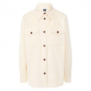 Хлопковая рубашка M Missoni. Цвет: белый