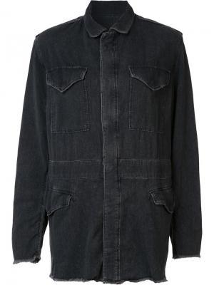 Джинсовая куртка свободного кроя Rta. Цвет: чёрный