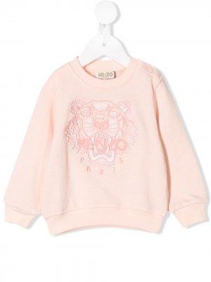 Классический свитер Tiger Kenzo Kids. Цвет: розовый