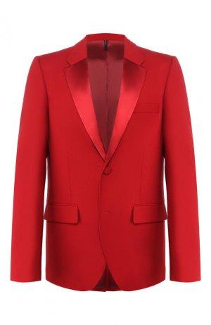 Шерстяной пиджак Helmut Lang. Цвет: красный