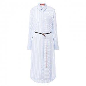 Хлопковое платье Altuzarra. Цвет: синий
