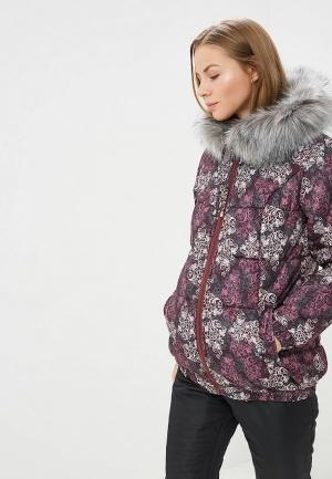 Куртка утепленная Очаровательная Адель. Цвет: фиолетовый