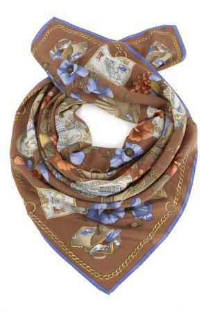 Платок F.FRANTELLI. Цвет: коричневый, синий, терракотовы