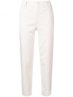 Укороченные брюки чинос строгого кроя Vince