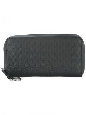 Текстурный кошелек на молнии Zanellato. Цвет: черный