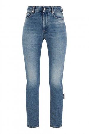 Синие укороченные джинсы скинни Off-white. Цвет: синий