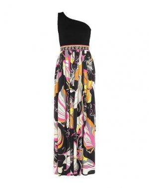 Длинное платье EMILIO PUCCI. Цвет: черный