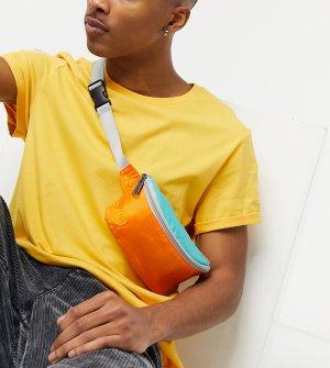 Нейлоновая сумка-кошелек на пояс мятного цвета в стиле колор блок эксклюзивно для ASOS-Мульти Mi-Pac