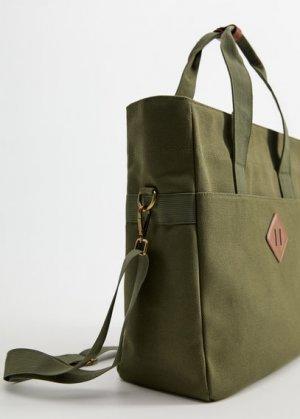 Холщовая сумка из хлопка - Totebag Mango. Цвет: хаки