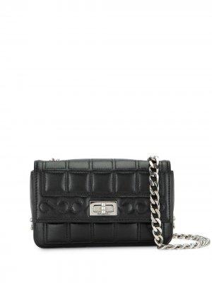 Сумка на плечо 2.55 Choco Bar 2003-го года Chanel Pre-Owned. Цвет: черный