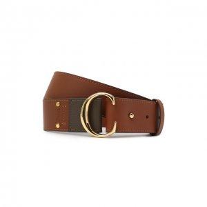 Кожаный ремень Chloé. Цвет: коричневый