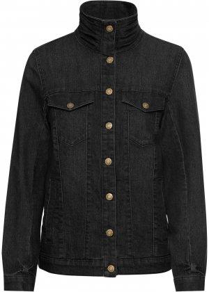 Куртка стретч джинсовая bonprix. Цвет: черный
