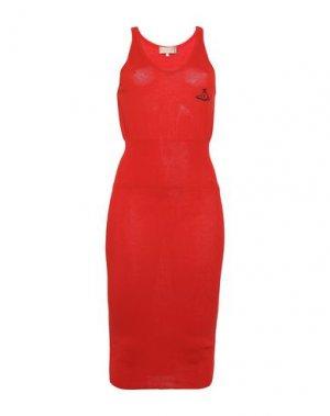 Платье до колена VIVIENNE WESTWOOD. Цвет: красный