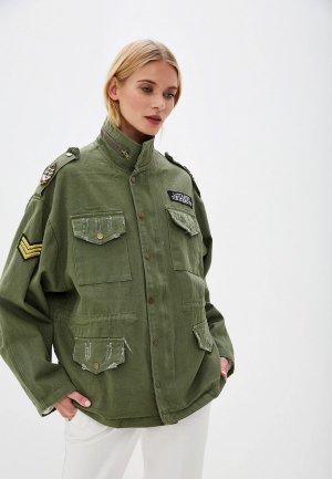 Куртка джинсовая Forza Viva. Цвет: зеленый