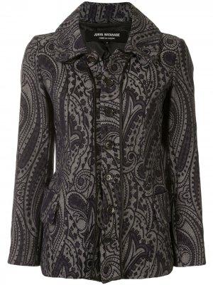 Джинсовая куртка с вышитым узором пейсли Junya Watanabe Comme des Garçons Pre-Owned. Цвет: синий