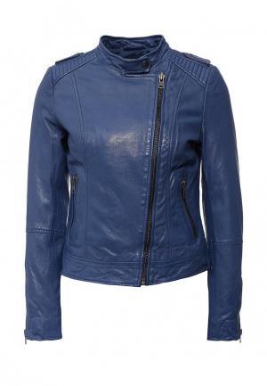 Куртка кожаная Naf. Цвет: синий