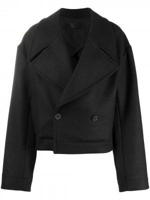 Укороченное пальто оверсайз Haider Ackermann. Цвет: черный