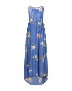 Платье длиной 3/4 ATTIC AND BARN. Цвет: синий