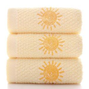 1шт Полотенце вышивкой SHEIN. Цвет: жёлтые