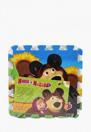 Коврик детский Играем Вместе Маша и Медведь, 8 элементов, 126х63 см. Цвет: разноцветный
