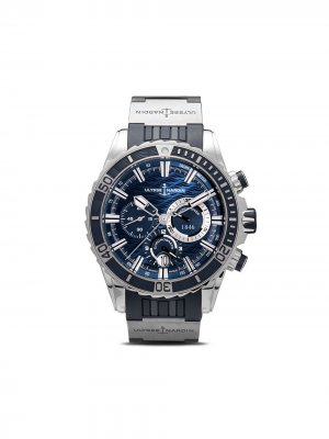 Наручные часы Diver Chronograph 50мм Ulysse Nardin. Цвет: голубой