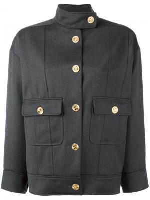 Укороченная куртка-бомбер Chanel Vintage. Цвет: серый