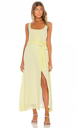 Платье миди ray Line & Dot. Цвет: желтый