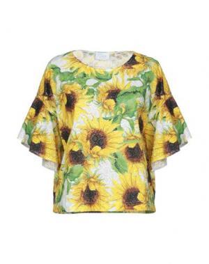 Блузка CLIPS MORE. Цвет: светло-желтый