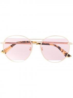 Солнцезащитные очки-авиаторы McQ Alexander McQueen. Цвет: золотистый