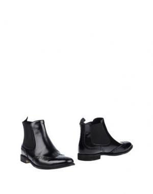 Полусапоги и высокие ботинки DANIELE ALESSANDRINI. Цвет: черный