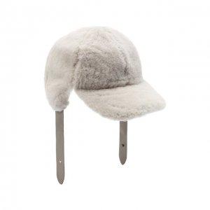 Меховая кепка Lorena Antoniazzi. Цвет: серый