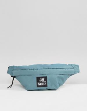 Зеленая сумка-кошелек на пояс New Balance. Цвет: зеленый